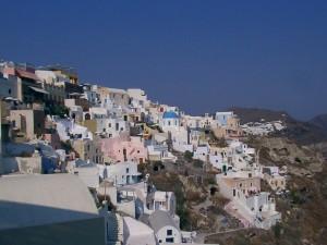 Oia uitzicht op Santorini