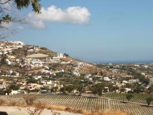 Exa Gonia uitzicht op Santorini