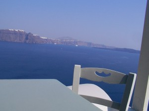 Santorini restaurants in Oia en Fira