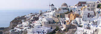 Dorpje Oia op het Griekse eiland Santorini