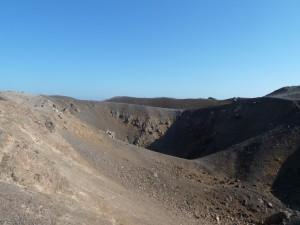 Santorini vulkaan de caldera van het Griekse eiland