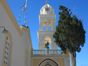 Megalochori kerk op Santorini